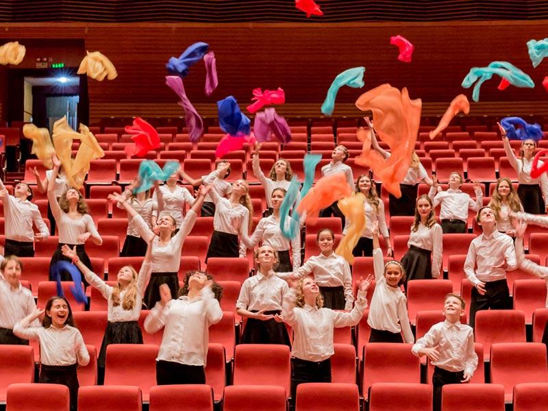 The children's choir at the Unter den Linden Opera House