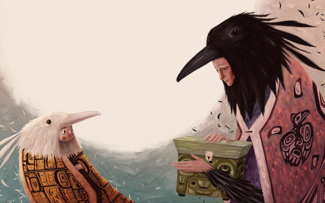 """""""Yéil, the Courageous Raven"""""""